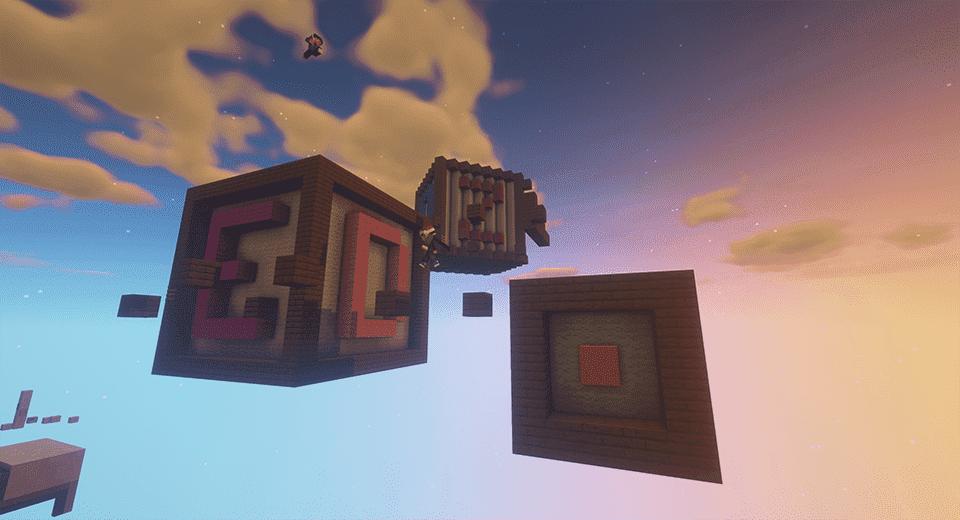 Minecraft parkour alphabet map