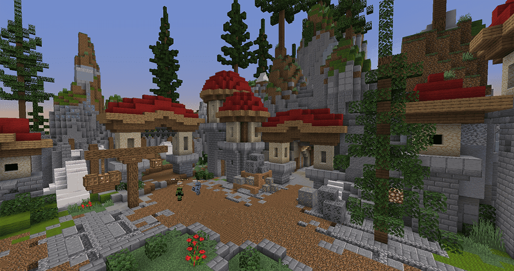 Survival multiplayer trading area